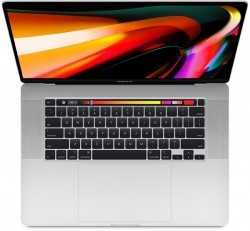 "Apple MacBook Pro 16"" Touch Bar 2020 Intel hatmagos i7, 2.6GHz, 16GB, 512GB, Radeon Pro 5300M, ezüst"