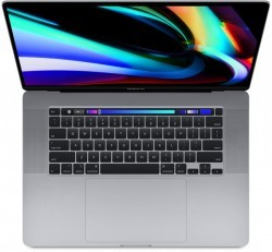 "Apple MacBook Pro 16"" Touch Bar 2020 Intel nyolcmagos i9, 2.3GHz, 16GB, 1TB, Radeon Pro 5500M, asztroszürke"