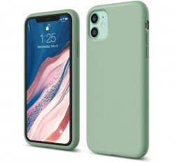 Apple iPhone 11 OEM szilikon hátlap tok, zöld