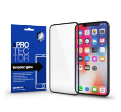 Apple iPhone 12/12 Pro Xprotector Tempered Glass Full Size 3D kijelzővédő üvegfólia, fekete