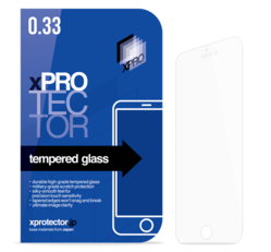 Apple iPhone 6/6s Xprotector Tempered Glass Silicone 3D Black kijelzővédő fólia