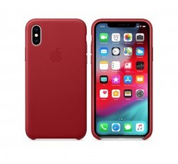 Apple iPhone XS gyári bőr tok, piros (PRODUCT)RED, MRWK2ZM/A