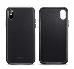 ESR Oxford Leather hátlap tok Apple iPhone X/Xs,  fekete