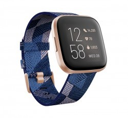 Fitbit Versa 2 okosóra Special Edition, Navy & Pink Woven szíj/Copper Rose Aluminum
