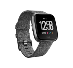 Fitbit Versa okosóra Special Edition, Charcoal Woven