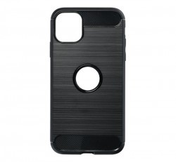 Forcell Carbon hátlap tok Apple iPhone 11, fekete