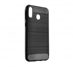 Forcell Carbon hátlap tok Samsung M205 Galaxy M20, fekete