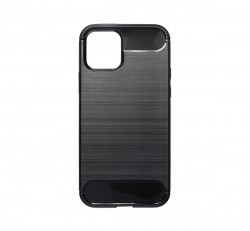 Forcell Carbon hátlap tok Apple iPhone 12/12 Pro, fekete