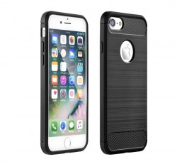 Forcell Carbon hátlap tok Apple iPhone 5/5S/SE, fekete