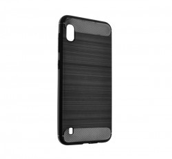 Forcell Carbon hátlap tok, Samsung A105 Galaxy A10, fekete