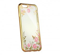 Forcell Diamond hátlap tok Apple iPhone 5/5S/SE, arany