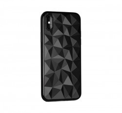 Forcell Prism hátlap tok Apple iPhone 5/5S/SE, fekete
