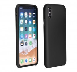 Forcell Szilikon hátlap tok Apple iPhone X, fekete