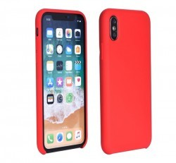 Forcell Szilikon hátlap tok Apple iPhone X, piros