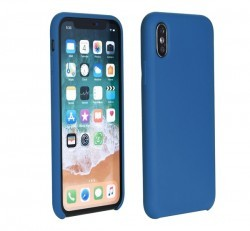 Forcell Szilikon hátlap tok Apple iPhone Xs, kék
