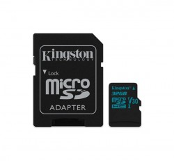 Kingston Canvas Go microSDHC 32GB (Class 10), UHS-I memóriakártya adapterrel (SDCG2/32GB)