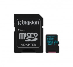 Kingston Canvas Go microSDHC 64GB (Class 10), UHS-I memóriakártya adapterrel (SDCG2/64GB)