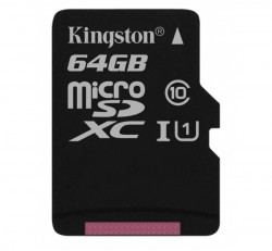 Kingston Canvas Select microSDXC 64GB (Class 10), UHS-I memóriakártya adapterrel (SDCS/64GB)