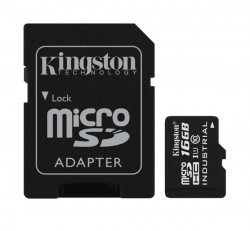 Kingston microSDHC 16GB (Class 10) UHS-I Industrial Temp, memóriakártya adapterrel (SDCIT/16GB)