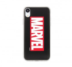 Marvel hátlapvédő tok, Apple iPhone 6 / 6S / 7 / 8, Marvel (nagy logo) fekete
