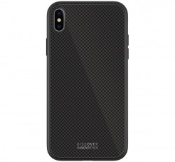Nillkin Tempered Plaid hátlap tok Apple iPhone Xs Max, fekete