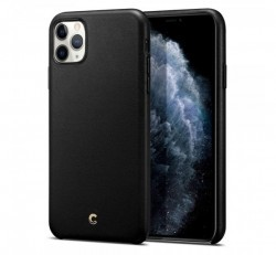 Spigen Ciel Cyrill Apple iPhone 11 Pro Max bőr tok, fekete