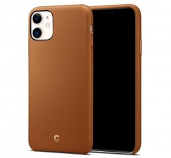 Spigen Ciel Cyrill Apple iPhone 11 Pro Saddle Brown, bőr tok, barna