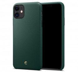 Spigen Ciel Cyrill Apple iPhone 11 Forest Green, bőr tok, zöld