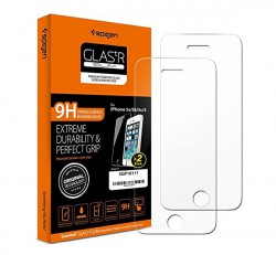 "Spigen ""Glas.tR SLIM"" Apple iPhone SE/5s/5c/5 Tempered kijelzővédő fólia (2db)"
