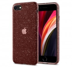 Spigen Liquid Crystal Glitter Apple iPhone SE(2020)/8/7 Rose Quartz tok, átlátszó