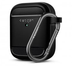 Spigen Rugged Armor Apple Airpods tok, fekete