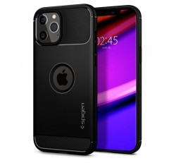 Spigen Rugged Armor Apple iPhone 12 Pro Max Matte Black tok, fekete