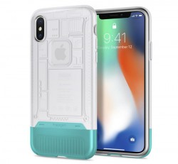 Spigen Classic C1 Apple iPhone X Snow tok, fehér