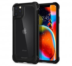 Spigen Gauntlet Apple iPhone 11 Pro Max Carbon Black tok, fekete