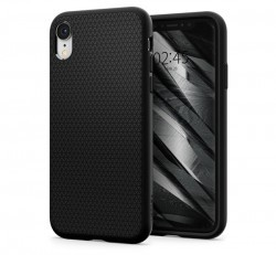 Spigen Liquid Air Apple iPhone XR Matte Black tok, fekete