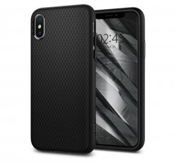 Spigen Liquid Air Apple iPhone Xs Matte Black tok, fekete