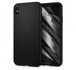 Spigen Liquid Air Apple iPhone Xs Max Matte Black tok, fekete