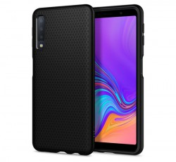 Spigen Liquid Air Samsung Galaxy A7 (2018) Matte Black tok, fekete