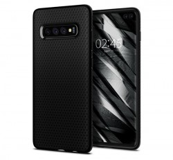 Spigen Liquid Air Samsung Galaxy S10+ Matte Black tok, fekete