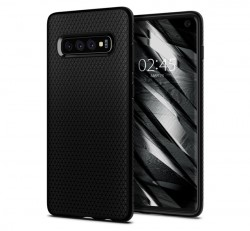 Spigen Liquid Air Samsung Galaxy S10 Matte Black tok, fekete