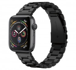 Spigen Modern Fit Apple Watch 44/42mm fém szíj, fekete