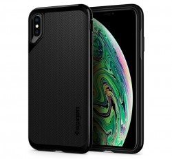 Spigen Neo Hybrid Apple iPhone Xs Max Jet Black tok, fekete