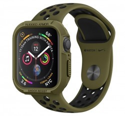 Spigen Rugged Armor Apple Watch S4/S5/S6/SE 40mm Olive Green tok, zöld