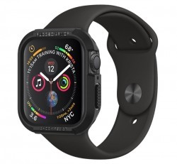 Spigen Rugged Armor Apple Watch S4/S5/S6/SE 44mm Fekete tok