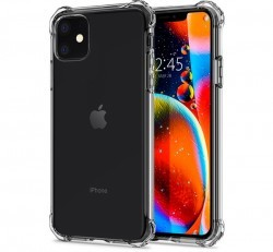 Spigen Rugged Armor Apple iPhone 11 Crystal Clear tok, átlátszó