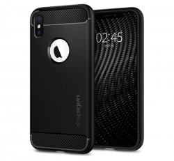 Spigen Rugged Armor Apple iPhone Xs Matte Black tok, fekete