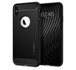 Spigen Rugged Armor Apple iPhone Xs Max Matte Black tok, fekete
