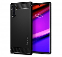 Spigen Rugged Armor Samsung Galaxy Note 10 Matte Black tok, fekete
