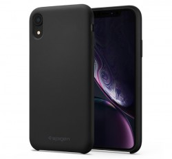 Spigen Silicone Fit Apple iPhone XR Black tok, fekete
