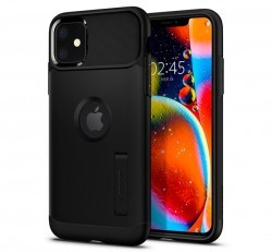 Spigen Slim Armor Apple iPhone 11 Black tok, fekete